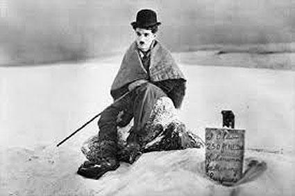 Charlot nella neve